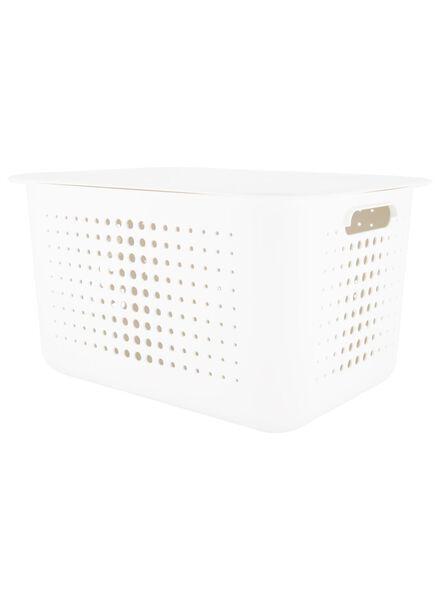 boîte de rangement 37 x 28 x 20 - plastique recyclé - blanc - 39891005 - HEMA
