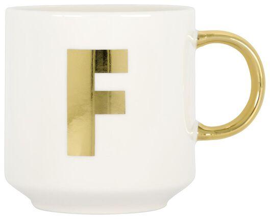 mug en faïence blanc/doré 350 ml - F - 61120101 - HEMA