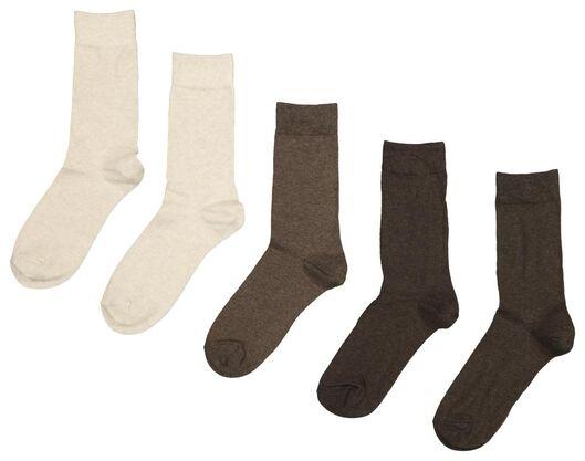 5-pack men's socks brown brown - 1000018887 - hema