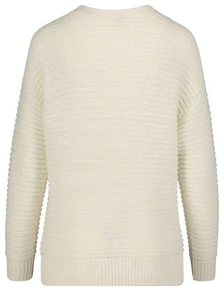 women's sweater knitted off-white off-white - 1000018442 - hema