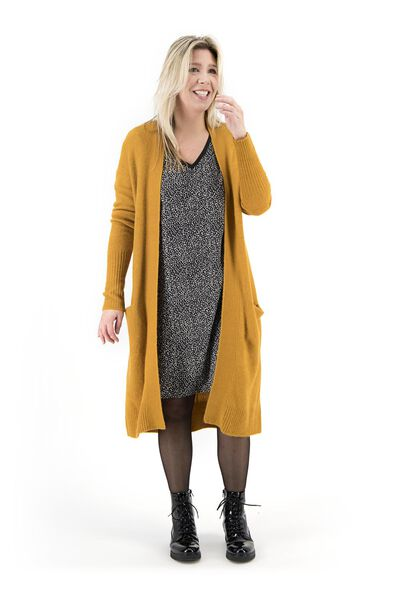women's cardigan dark yellow dark yellow - 1000018017 - hema