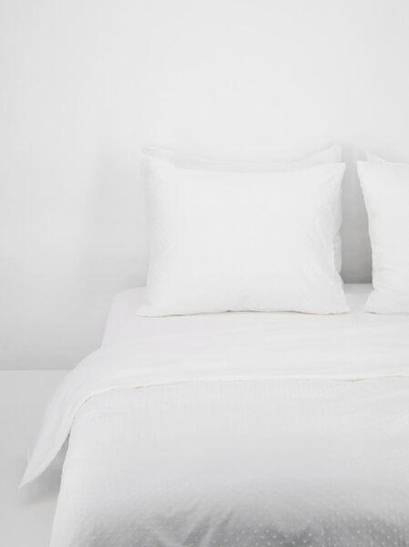 housse de couette en coton doux structure blanche blanc - 1000021823 - HEMA