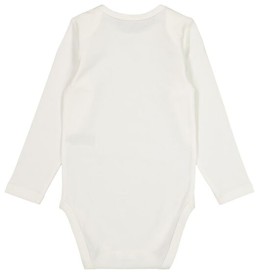 bodysuit organic cotton stretch bear off-white off-white - 1000020440 - hema