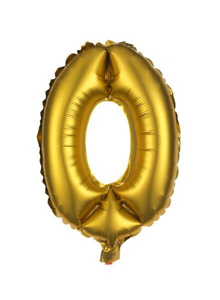 foil balloon 0 - gold - 60800079 - hema