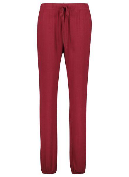 Damen-Pyjamahose rot rot - 1000017148 - HEMA