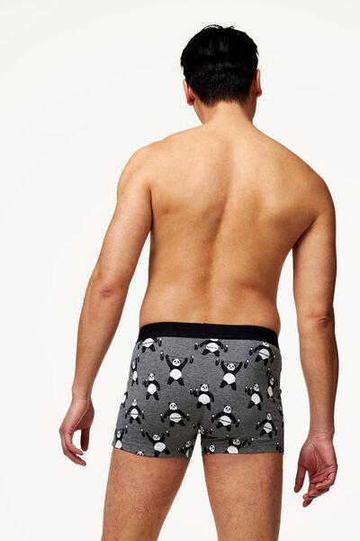 Herren-Boxershorts, kurz, elastische Baumwolle graumeliert graumeliert - 1000022816 - HEMA