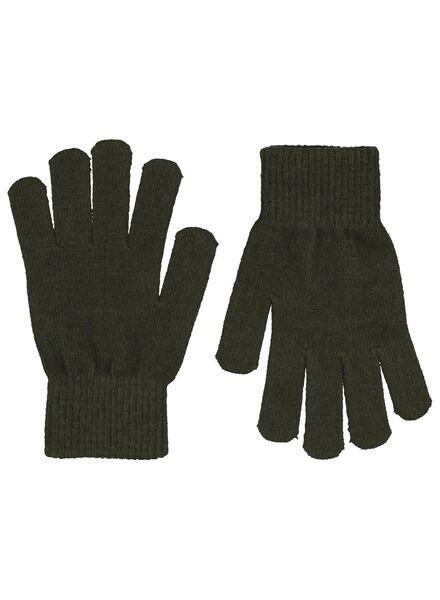 Kinder-Handschuhe dunkelgrün dunkelgrün - 1000015342 - HEMA