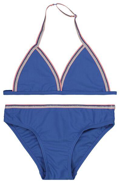 Kinder-Triangel-Bikini mittelblau mittelblau - 1000019539 - HEMA