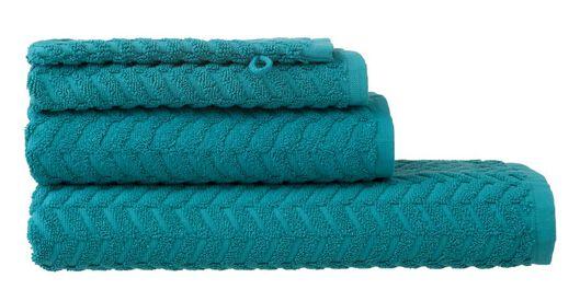 handdoeken - zware kwaliteit - zigzag donkergroen donkergroen - 1000015147 - HEMA
