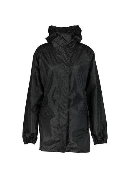 foldable raincoat black black - 1000013907 - hema