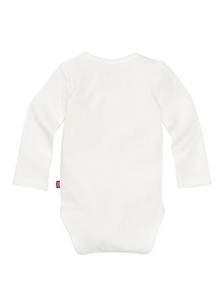 newborn crossover bodysuit off-white off-white - 1000005552 - hema