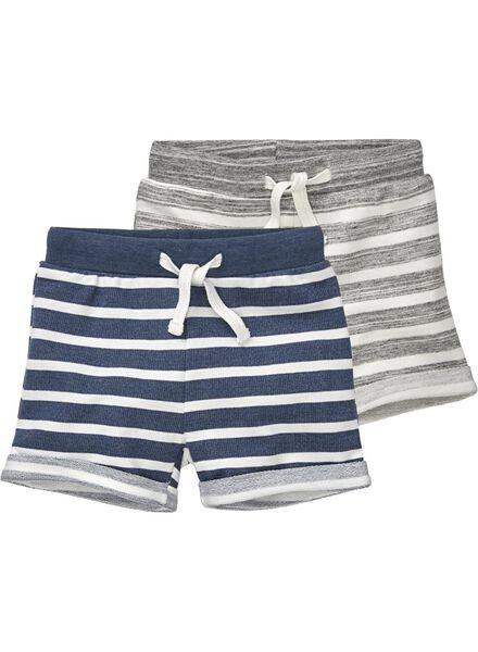 2-pack baby shorts blue blue - 1000019387 - hema