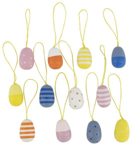 Image of HEMA 12 Wooden Hangers Eggs 3 Cm