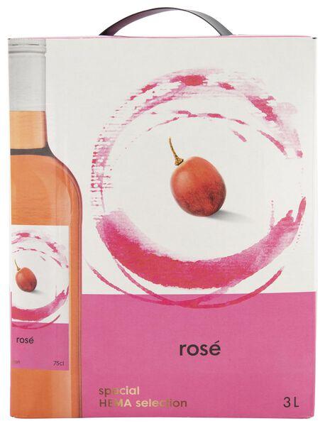 huiswijn rosé bag-in-box - 3 L - 17380102 - HEMA