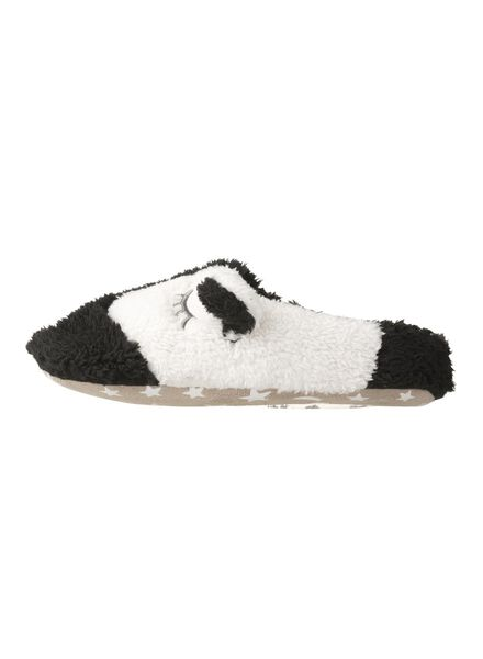 women's slippers black/white black/white - 1000006338 - hema