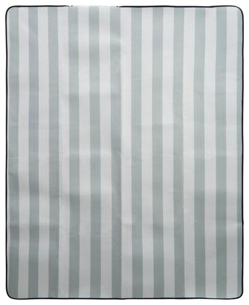 couverture de pique-nique 170x130 polaire rayures gris/blanc - 41820353 - HEMA