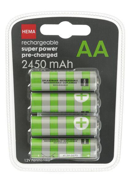 4-pak oplaadbare batterijen 2450 mAh - 41290272 - HEMA