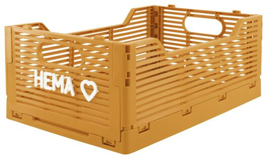 caisse pliante tableau recyclée 20x30x11.5 - jaune jaune 20 x 30 x 11,5 - 39821021 - HEMA