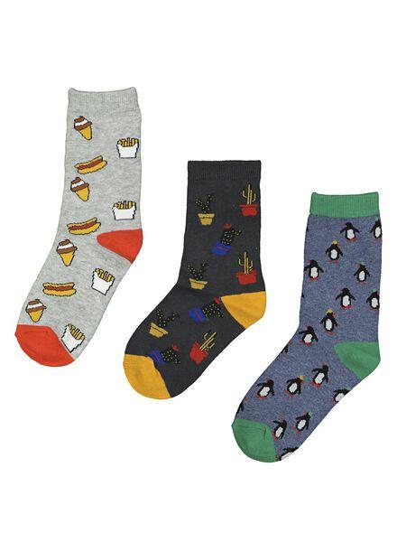 3-pack children's socks multi multi - 1000014557 - hema