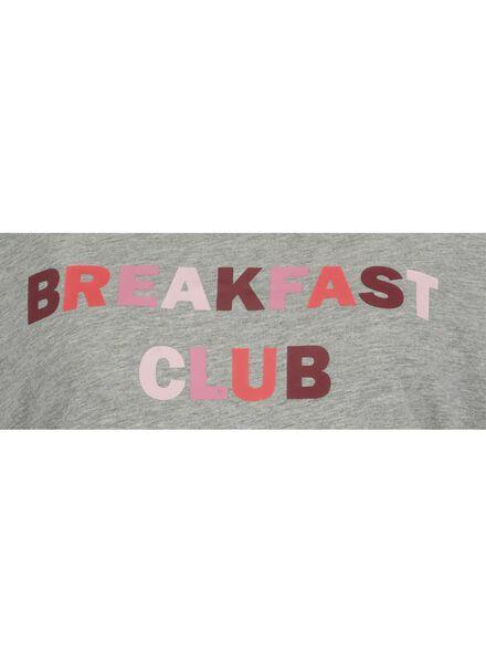 women's nightshirt mid grey mid grey - 1000017233 - hema
