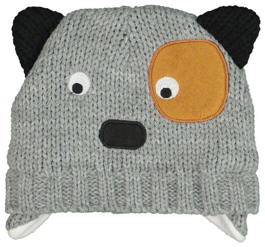 babymuts grijsmelange grijsmelange - 1000020143 - HEMA