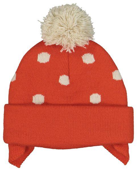small baby hat with mittens orange orange - 1000020308 - hema