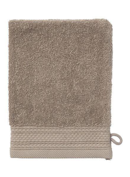 wash mitt - hotel extra thick - taupe plain taupe wash mitt - 5240191 - hema