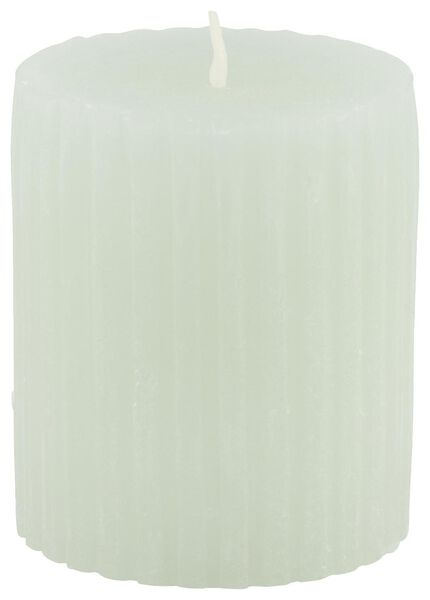 rustic candle with relief - 7x8 - light green - 13502602 - hema