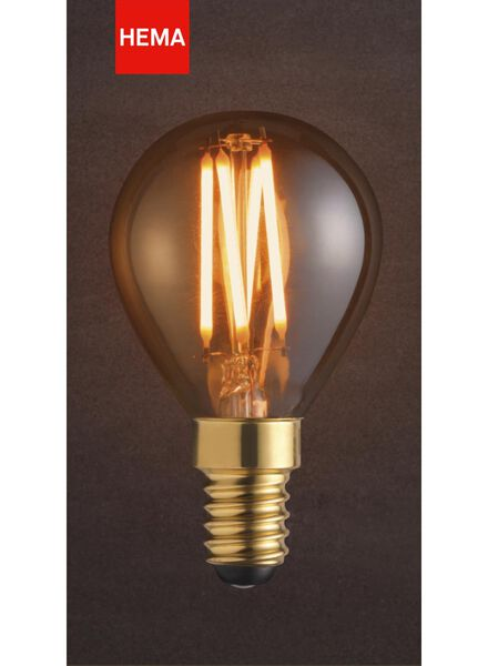 LED lamp 3.5W - 200 lm - bullet - gold - 20020080 - hema