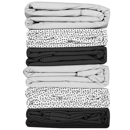 sheet - 150 x 255 - soft cotton - light grey - 5100022 - hema