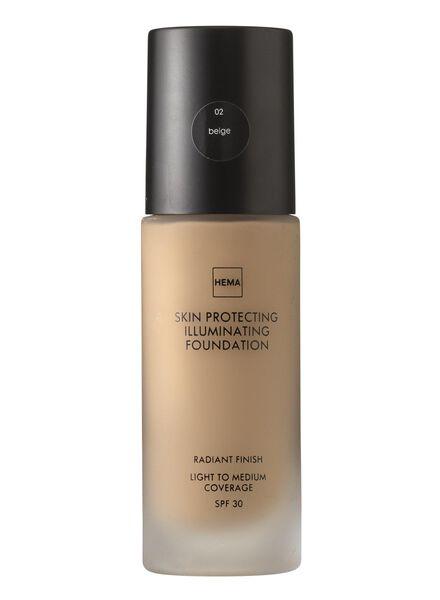 skin protecting illuminating foundation Beige 02 - 11292002 - hema