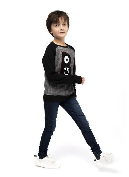 Kinder-Sweatshirt schwarz schwarz - 1000017032 - HEMA