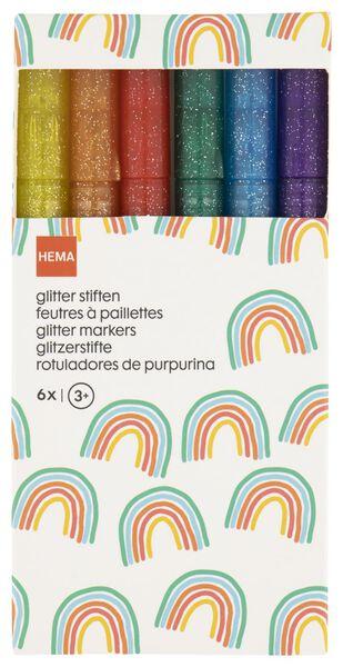 glitter stiften - 6 stuks - 15990190 - HEMA