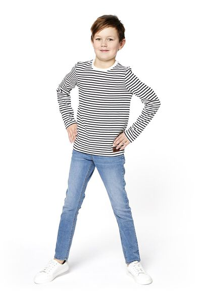 Kinder-Shirt dunkelblau dunkelblau - 1000018318 - HEMA