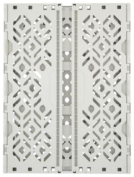 folding crate recycled - 39 x 29 x 15 cm - grey grey 39 x 29 x 15 - 39892908 - hema