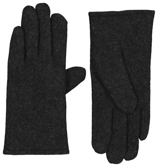 Touchscreen-Damen-Handschuhe, Wollmischung schwarz schwarz - 1000020748 - HEMA