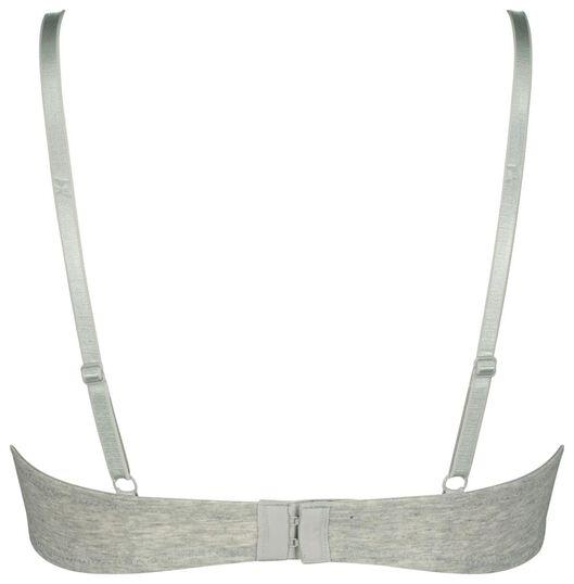 2 soutiens-gorge t-shirt rembourrés en coton gris chiné gris chiné - 1000023411 - HEMA