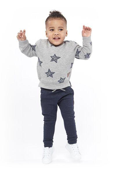 children's sweater grey melange grey melange - 1000017730 - hema