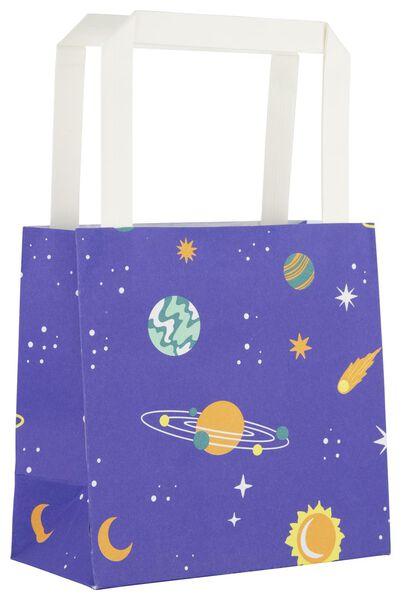 6 gift bags 13x13x7 space - 14700294 - hema