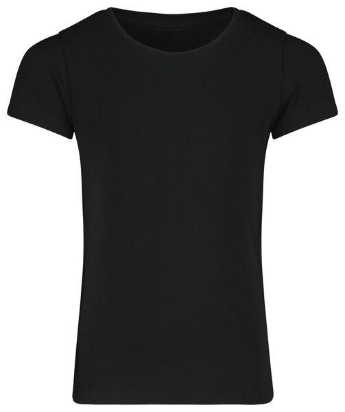 children's T-shirt black black - 1000018007 - hema