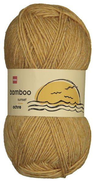 Strickgarn, Wolle-Bambus, 100 g, ockergelb - 1400223 - HEMA