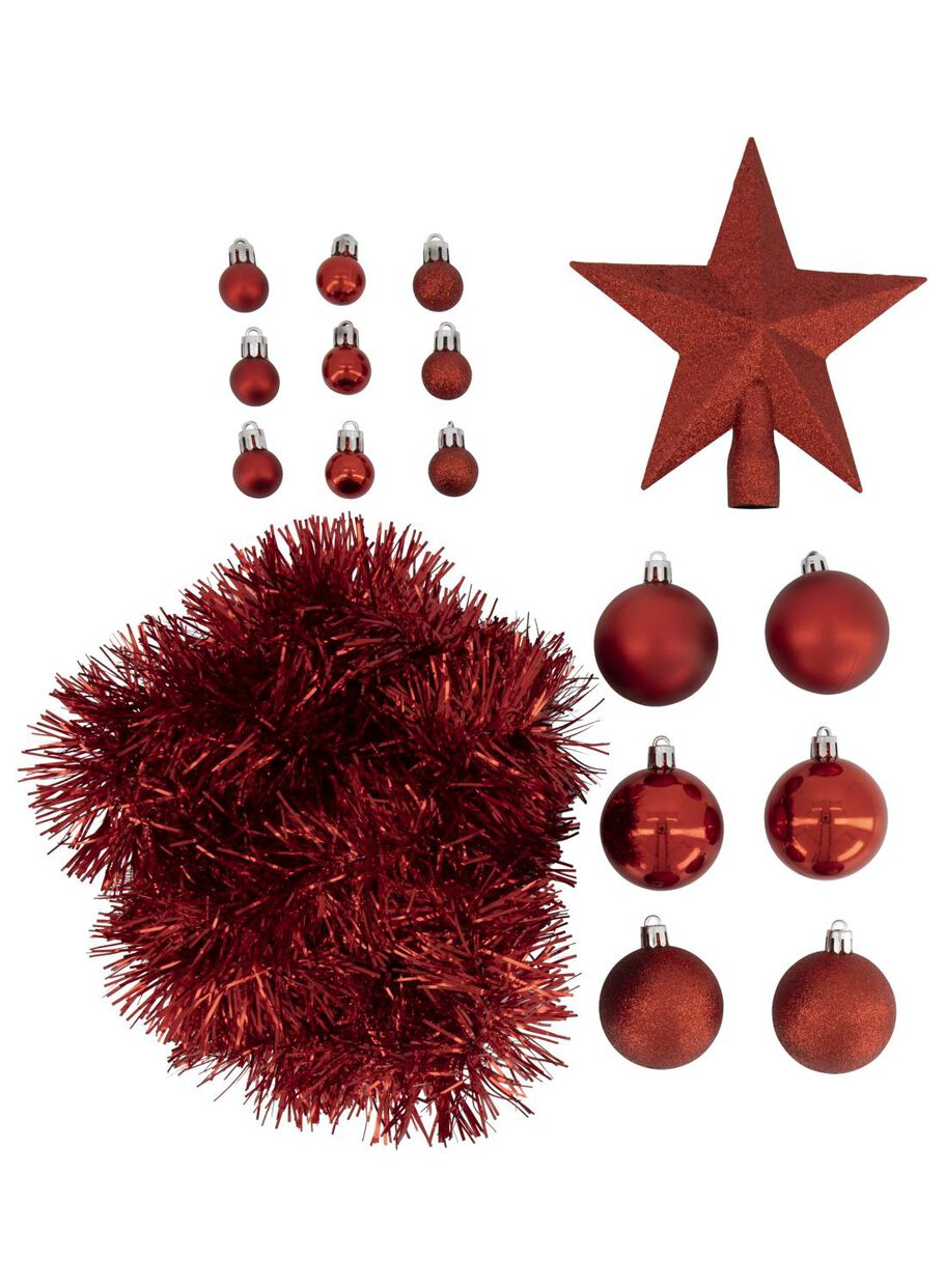 Red Christmas Tree.Christmas Tree Decoration Set Red 54 Piece