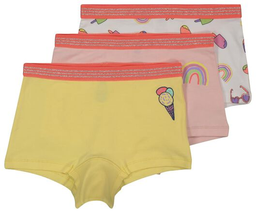 3er-Pack Kinder-Boxershorts gelb gelb - 1000018075 - HEMA