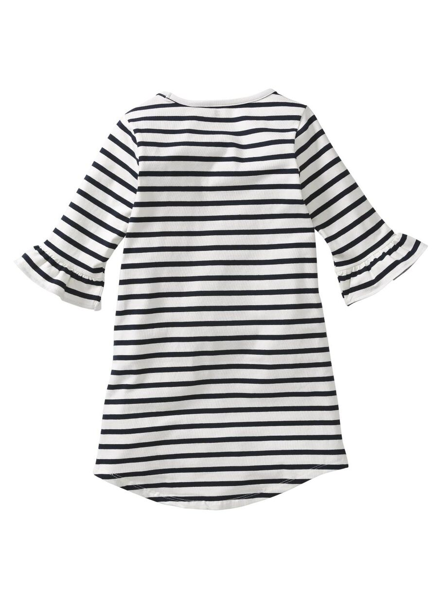 kinder-kleid schwarz/weiß