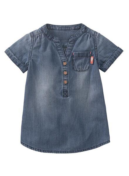 Babykleiderroecke - HEMA Baby Kleid Jeansfarben - Onlineshop HEMA