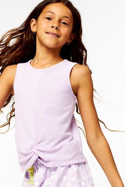débardeur enfant avec bouton lilas lilas - 1000024233 - HEMA