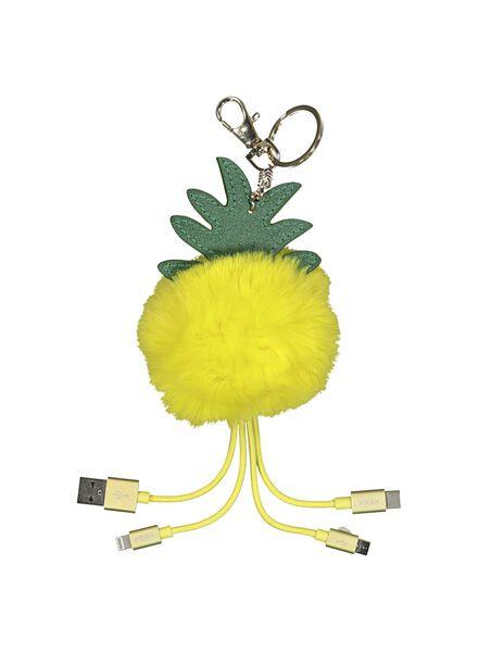 3-in-1-Ladekabel Ananas - 39600228 - HEMA
