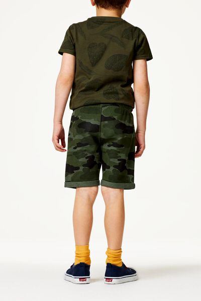 2er-Pack Kinder-Shorts dunkelgrün dunkelgrün - 1000023231 - HEMA