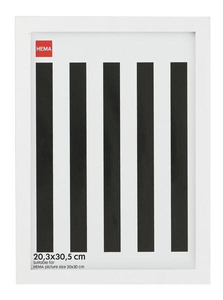 photo frame - wood - white 20.3 x 30.5 - 13680024 - hema