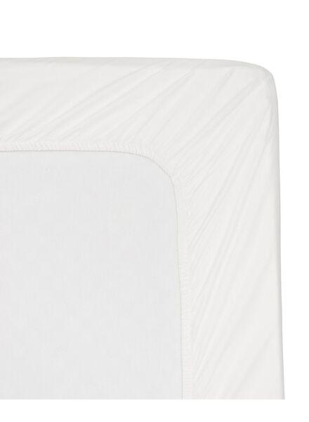 drap-housse - hôtel percale de coton - 160 x 200 cm - blanc - 5140034 - HEMA